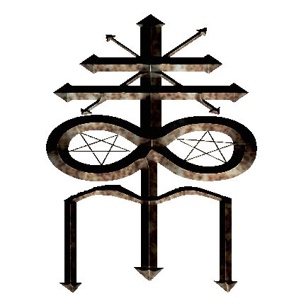 The Symbol of Theistic Satanism. The Symbol of Theistic Satanism was created by the world famous Reverend.Dr.Robert Fraize. This symbol is also called Tiamat's Trident. This is a concept rendering...