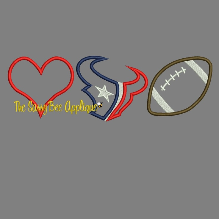 Love HOUSTON TEXANS Football Applique  by TheSassyBeeApplique, $4.00
