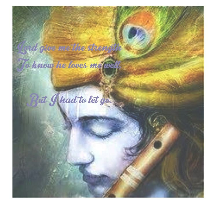 Lord krishna and Radha's love for him. Forced separation but forever she will be his queen.