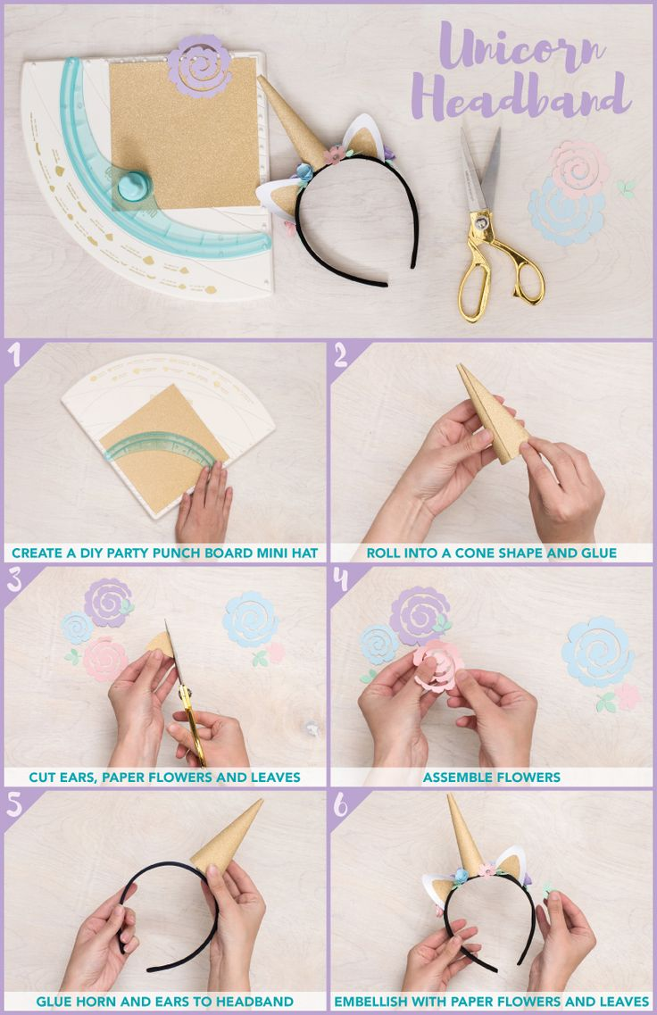Unicorn Headband project featuring the DIY Party Board by We R Memory Keepers