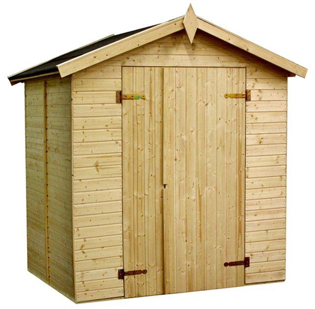 Cobertizos de madera celia trasteros de madera jardin for Trasteros de madera