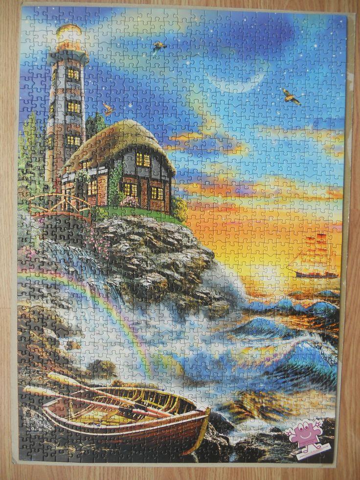 """""""KS Games Twilight Lighthouse 1000 parça puzzle"""" Hazır yapılmış ve yapıştırılmış çerçeveye hazır puzzle Aynı gün kargo!  Satın almak ve fiyat bilgisi için ürün görseli üzerine tıklayın lütfen..!!"""