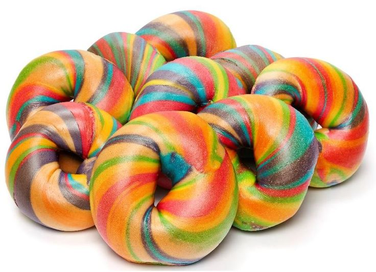 Several different food dyes give the effect of unicorn colours swirled through…