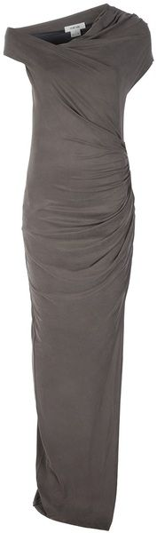 Helmut Lang Gray Maxi Dress - Lyst