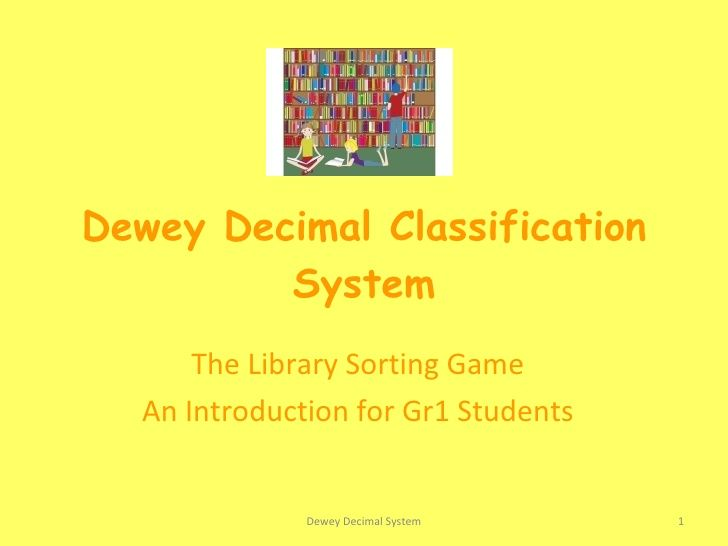 dewey-decimal-classification-system-the-library-sorting-game by Tanja Galetti via Slideshare