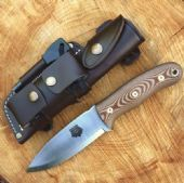 TBS Grizzly Bushcraft Survival Knife - DC4 & Firesteel Edition - Natural Micarta £180 125MM BLADE