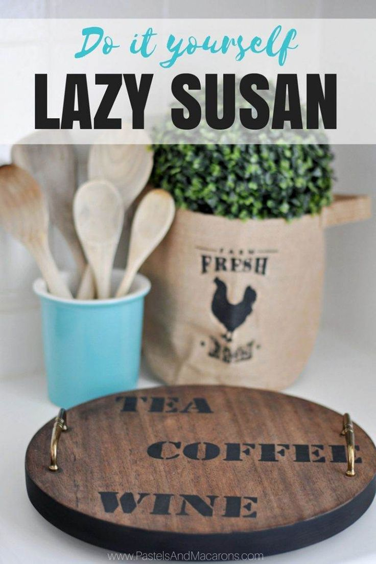easy to make diy lazy susan turnable for the kitchen this is a great upcycle
