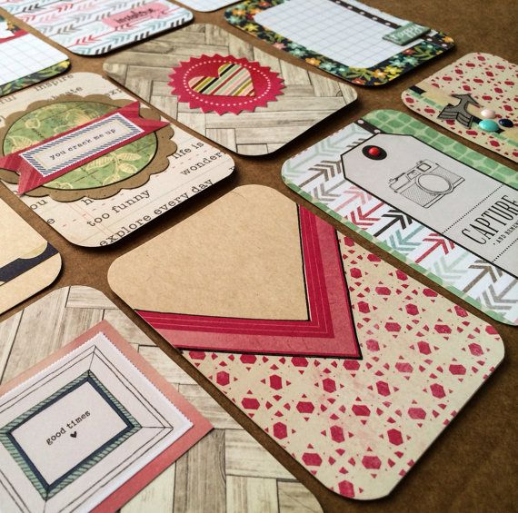 Dozen Beautiful Handmade Project Life Cards 3x4 by jessicabree, $7.75