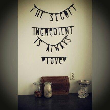 #Wordbanner #tip: The #secret ingredient is always #love - Buy it at www.vanmariel.nl - € 11,95, 2 for € 20