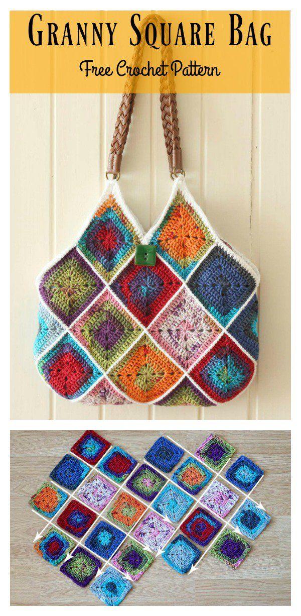 Granny Square Bag Free Crochet Pattern