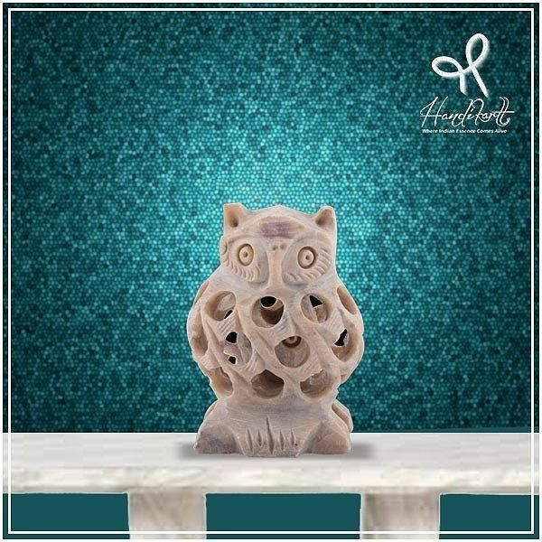 #TuesdayTip: If not the #owl from #HarryPotter, this one is nothing less.Hand carved by #artisans at #Handikart_India from a single #stone
