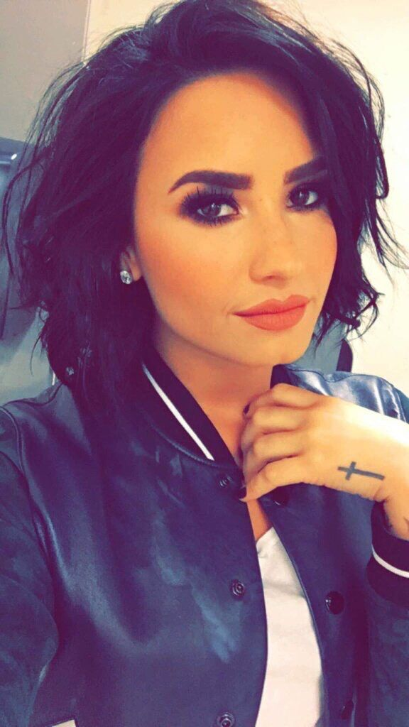 Demi Lovato on snapchat