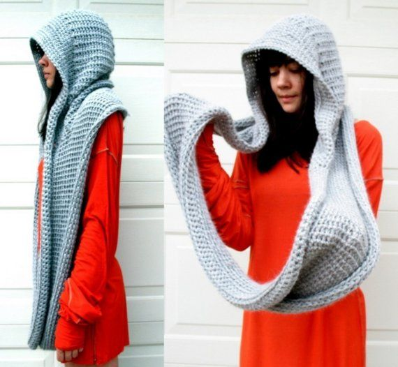 hooded cowl infinity scarf