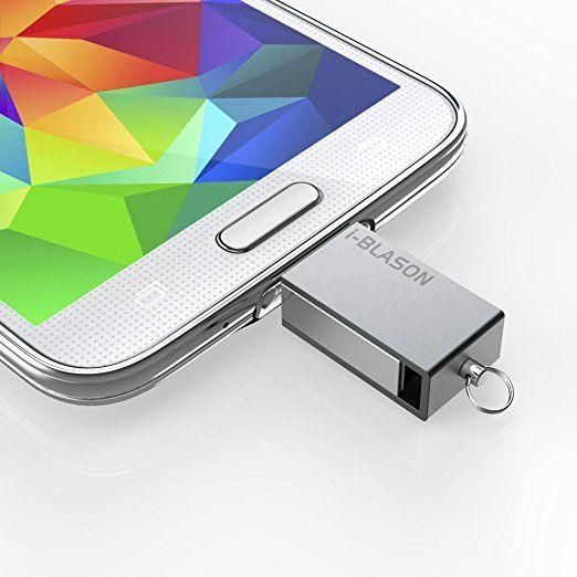 i-Blason Ultra Slim [Waterproof] impermeabile Micro USB 2.0 OTG Flash Drive per Android Smartphone / Tablet Samsung Galaxy S6, S5, S4, S3, S6 Edge, HTC One M9, M8, Google Nexus 6, S5, LG G4, G3, Galaxy Tab 4, Tab 3, Pro, Note 4, Note 3 (32 GB)
