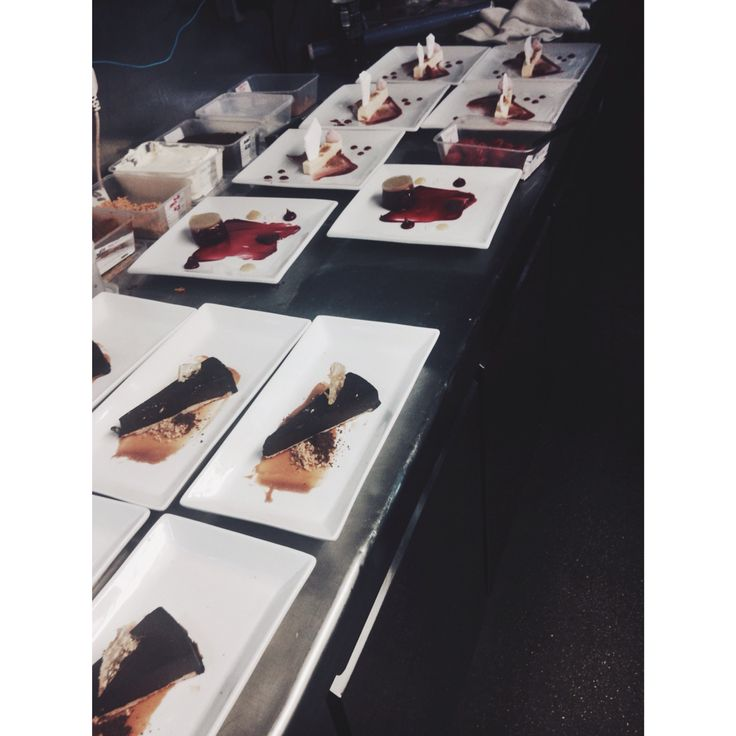 Love plating up desserts for large tables