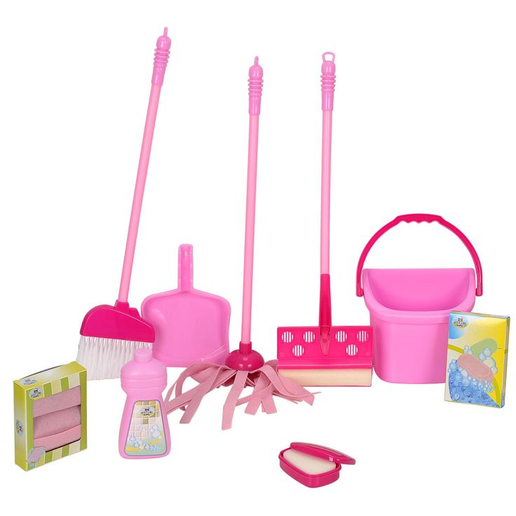 "✅She LOVEs to sweep and clean like Mama! Just Like Home Deluxe Cleaning Set - Pink - Toys R Us - Toys ""R"" Us"