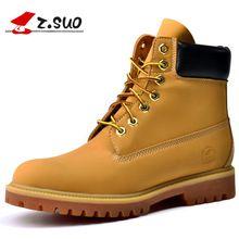 2017  men's boots, fashion retro leather high-top boots, high quality cowhide boots. Botas hombre shoe
