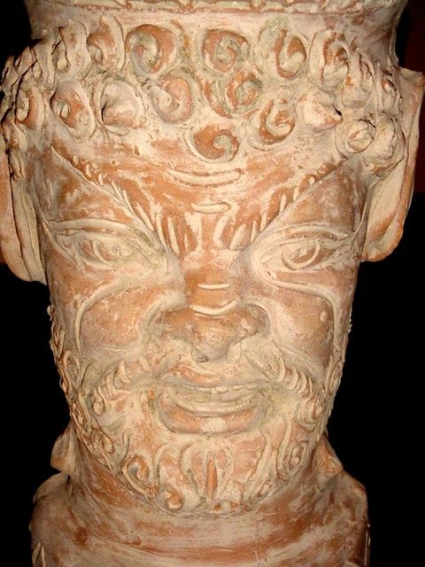 A faun's head by Bolsena artist Giuseppe Utano