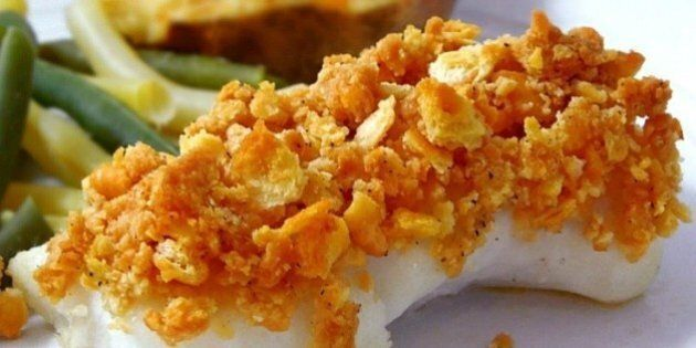 Baked cod recipe with Ritz crackers on