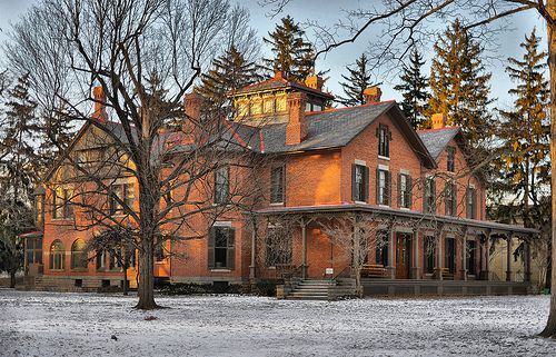 Spiegel Grove, home of Rutherford B. Hayes...19th President of the United States. From right in my hometown of Fremont, OH. This is a gorgeous area of town and is worth the trip to visit the home and library/museum.