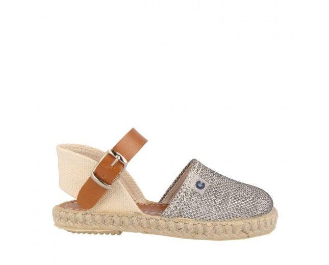Sandalias de Niña Metalizado Plata