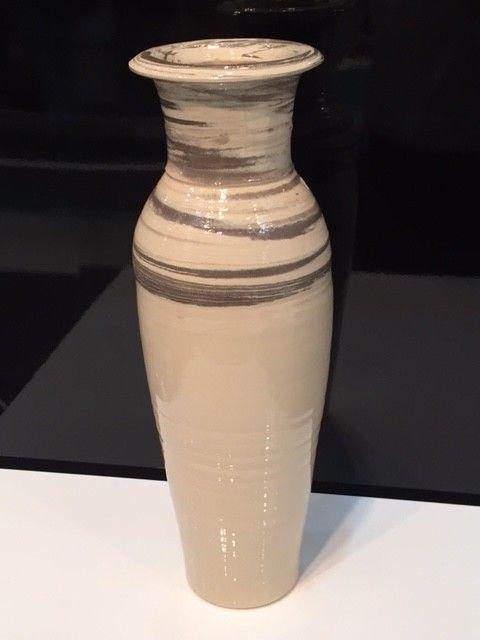 Vase#2016 Dekoration Exklusiv handmade Design Keramik Weiß 50cm Bodenvase  | eBay