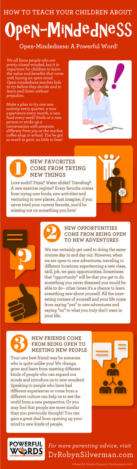 How to Teach Your Child About Open-Mindedness   Powerful Words Character Development   Infographic