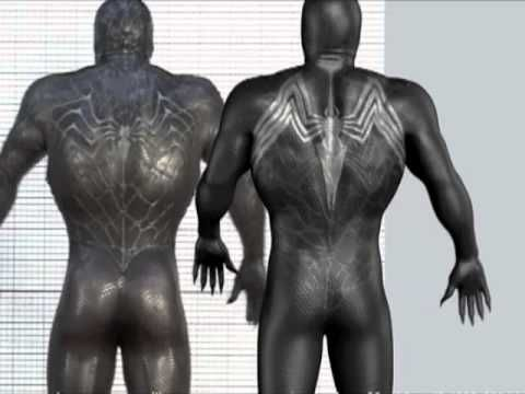 Spiderman 3 Muscle and Skin Musculoskeletal Skinning