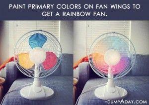 Crafty ideas- DIY rainbow fan