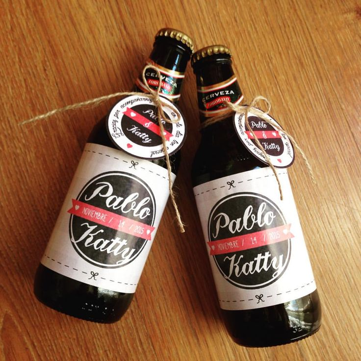 Souvenir Cervezas - Matrimonio de Pablo & Katty