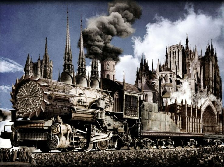 Cathedral-a-vapeur by Sam Van Olffen: Cathedral A Vapeur, Digital Art ...