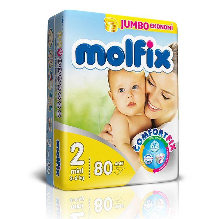 Molfix 7/24 Jumbo Mini Bebek Bezi 3-6 Kg 80 Adet