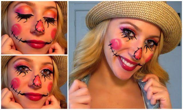 MissAlexaKatherine: Sweet Scarecrow Make Up & Costume!
