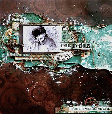 Time Is Precious by Elena Lishchenko. Kaisercraft Time Machine