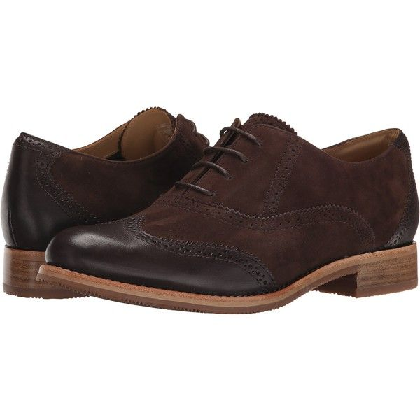 Sebago Claremont Brogue Women's Lace Up Wing Tip Shoes, Brown ($85) ❤ liked on Polyvore featuring shoes, oxfords, brown, brown wingtip shoes, lace up shoes, brogue oxford, low heel shoes and wingtip brogues