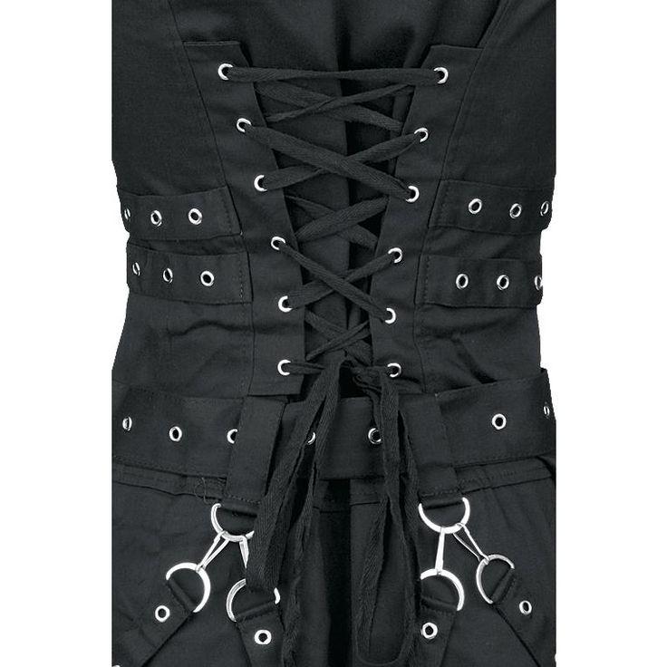 "H&R London Short dress, Women ""Black Zip Dress"" black • EMP"