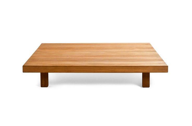 Tribù Vis à vis sofa   coffee table in teak wood