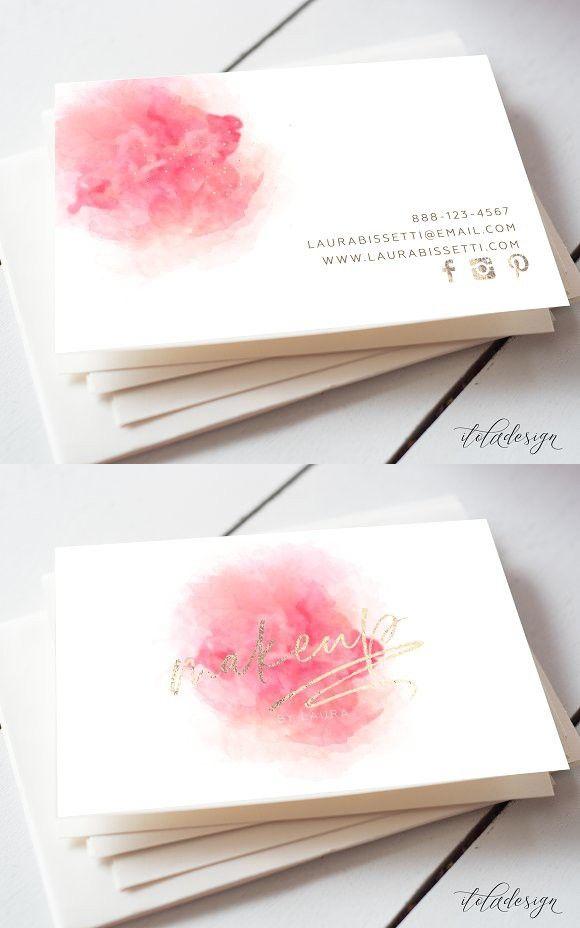 Makeup Artist Business Card Unique Creative