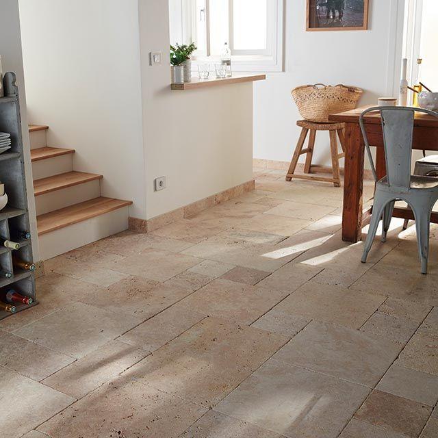Carrelage sol et mur beige opus formats romain castorama for Peinture carrelage cuisine castorama saint etienne