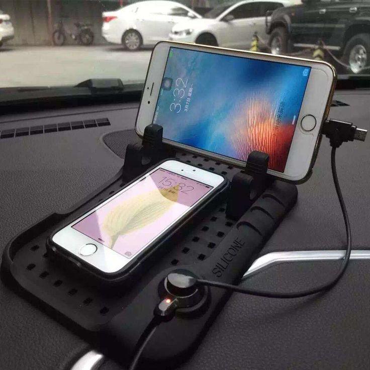 Nuovo Design Multi-funzionale Magnetico di Carica Di Silicone Tappetino Antiscivolo Navigazione Per Auto Caricatore Del Telefono Mobile USB