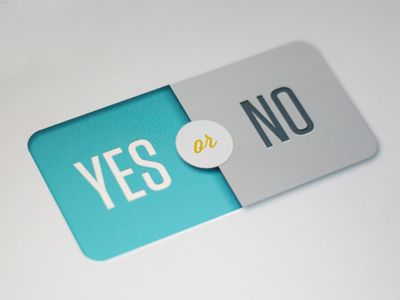 Dribbble - Segmented Yes/No Button by Sam Borstadt
