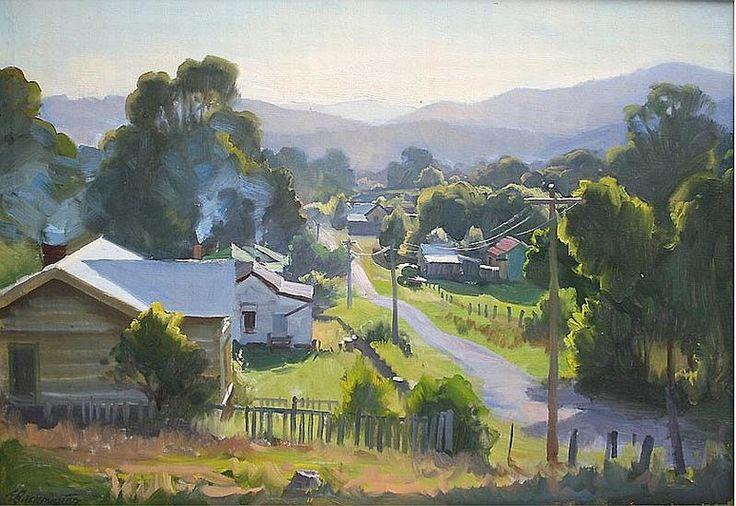 Ernest Buckmaster Sunset at Jamison