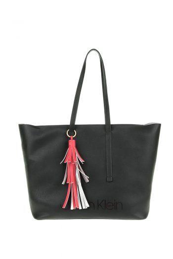 fb44a77f0b CALVIN KLEIN JEANS - Γυναικεία shopper bag CK POP μαύρη