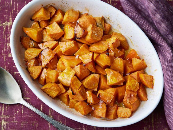 Honey Roasted Sweet Potatoes recipe from Ellie Krieger via Food Network