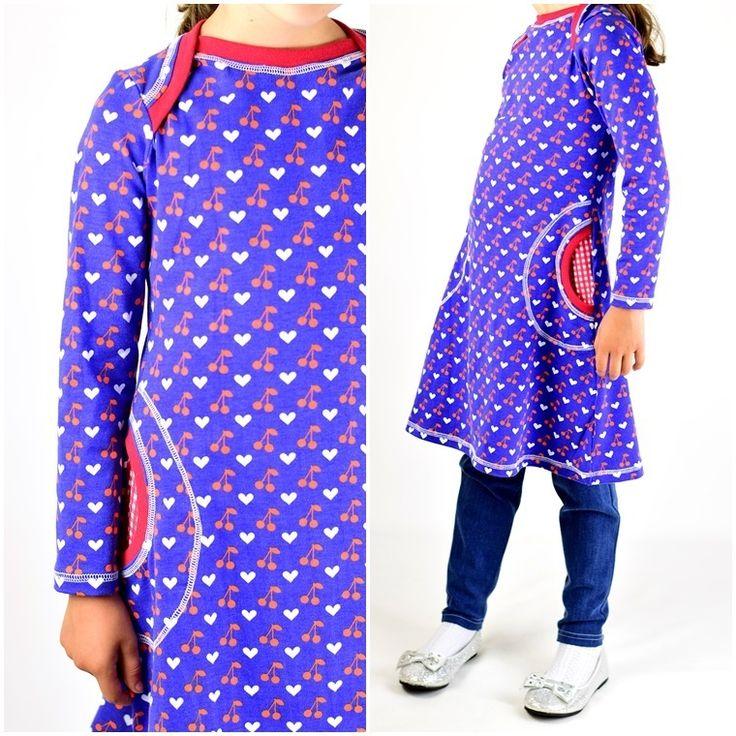Ebook / Schnittmuster lillesol basics No.35 Kleid mit amerikanischem Ausschnitt