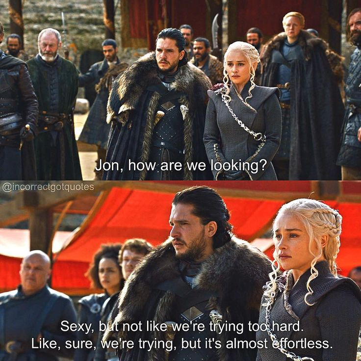 incorrectgotquotes on Instagram: source: brooklyn nine-nine game of thrones season 7 funny humour meme, Jon Snow, Daenerys Targaryen, Jonerys, Kit Harington, Emilia Clarke