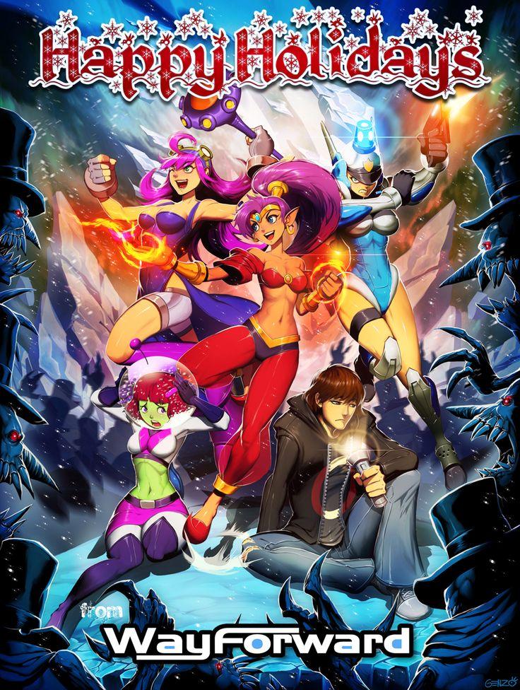 Shantae Happy Holidays from WayForward Dark skin
