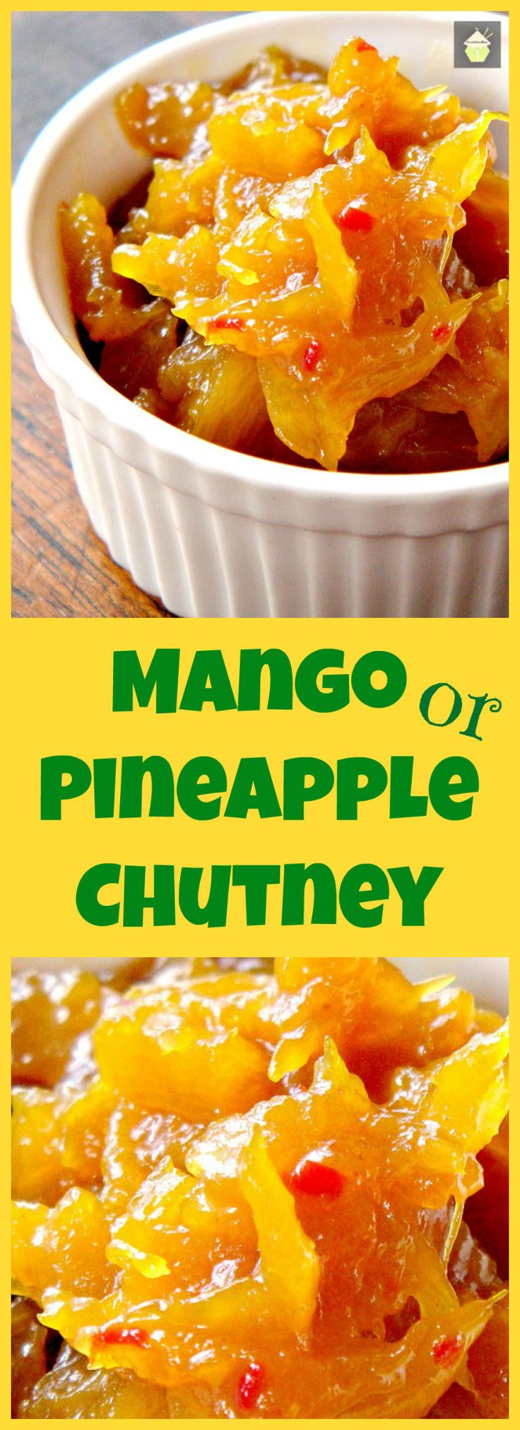 Spicy Caribbean Pineapple or Mango Chutney. An easy to make chutney which is like sunshine in a bowl! delicious with cold cuts or use as a marinade for pork or chicken. It's really delicious!