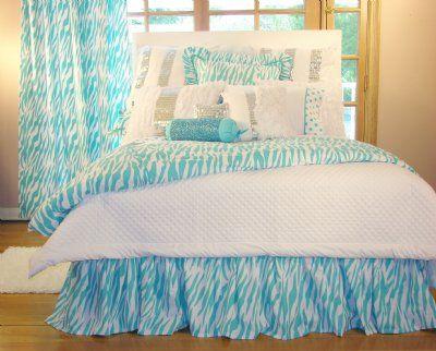 Teen decor that is fabulous in zebra turquoise