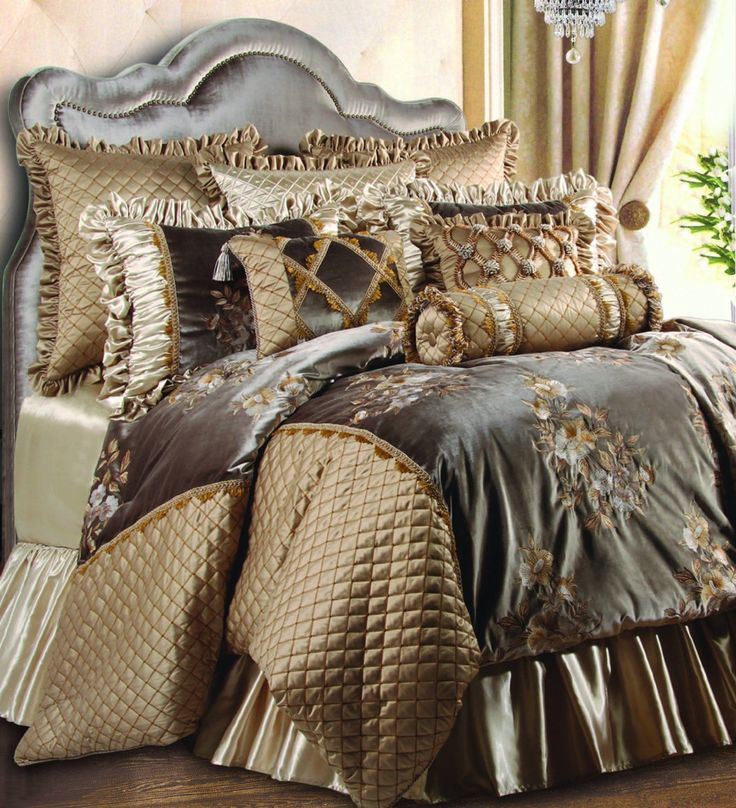 Jennifer Taylor Legacy Collection 10-Piece Comforter Set, King, Taupe  #Bedding #homedecor